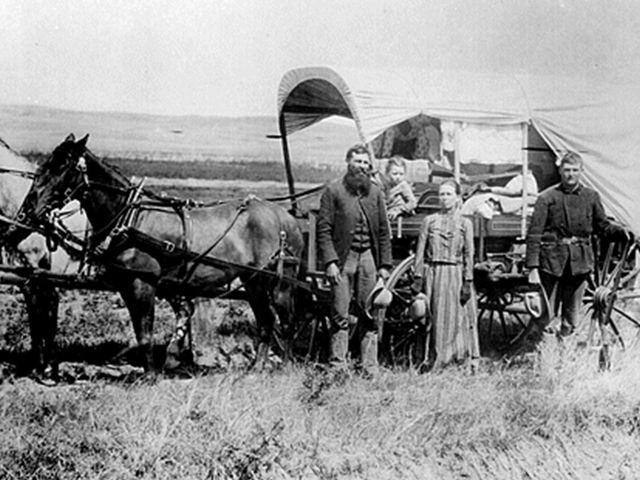 Homesteading Family 1886