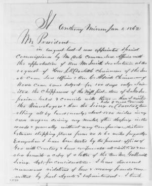 Letter written by George E.H. Day to President Lincoln, January 1, 1862