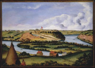 Fort Snelling, about 1850
