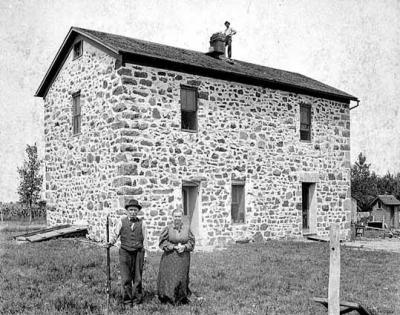 The Lower Sioux Agency building in1897. By Edward Augustus Bromley.