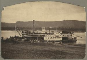 Steamboat Davenport at Winona, MN, about 1870