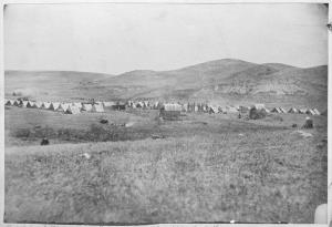 Part of General Sully's army near Fort Berthold, North Dakota, 1864