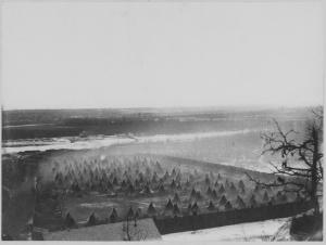 Fort Snelling internment, or concentration camp, 1862