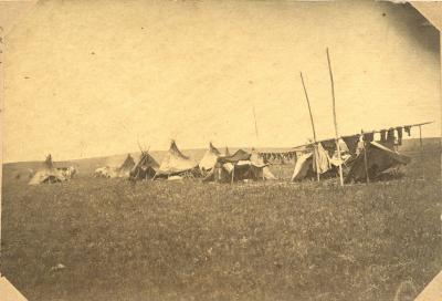 Indian camp, Dakota Territory, 1865.