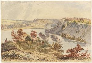 From Fort Snelling Looking Up, Seth Eastman, 1848