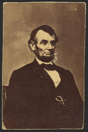 Abraham Lincoln, about 1864. Photograph by Anthony Berger. Courtesy Prints & Photographs Division, Library of Congress
