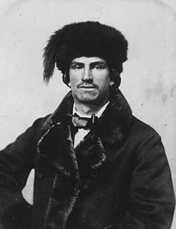 Mixed blood (Indian and French) fur trader, about 1870