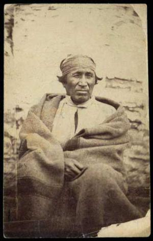 Sakpe when he was imprisoned at Fort Snelling, 1864