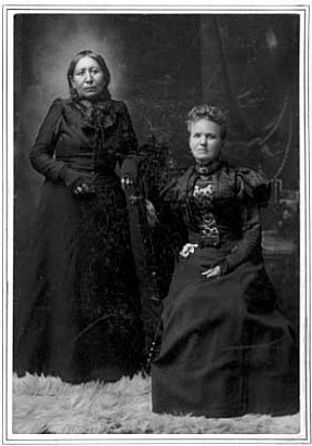 Snana (Maggie Brass) and Mary Schwandt, about 1899