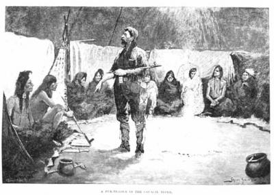 A Fur Trader in the Council Tipi, about 1892
