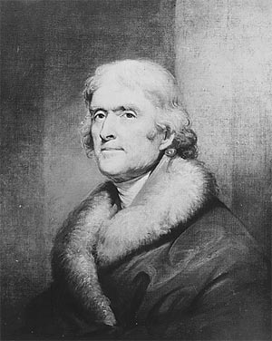 Thomas Jefferson. Copy of painting by Rembrandt Peale, circa 1805, 1942-1945