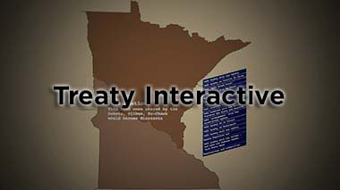 Starting in 1805, the United States negotiated treaties with Minnesota's indigenous peoples. Explore each treaty and see how changing boundaries reflect the influx of settlers and displacement of the Dakota, Ojibwe, and Ho-Chunk.
