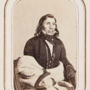 Little Crow, photograph by Joel Emmons Whitney, 1862.
